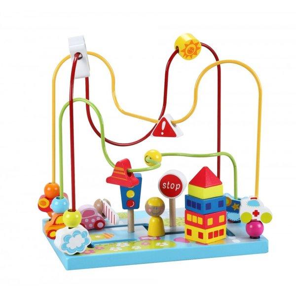 Дървена играчка за координация - Лабиринт